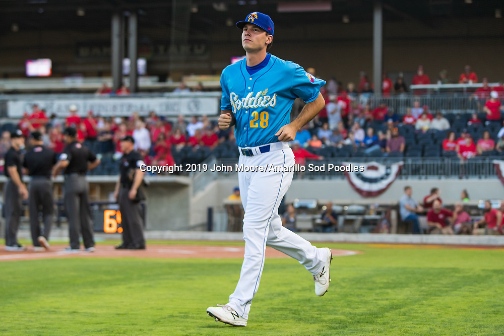 Amarillo Sod Poodles pitcher Elliot Ashbeck (28) against the Tulsa Drillers during the Texas League Championship on Tuesday, Sept. 10, 2019, at HODGETOWN in Amarillo, Texas. [Photo by John Moore/Amarillo Sod Poodles]