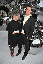 Sculptor ANTONY GORMLEY and VICKEN PARSONS attend the private view of Anish Kapoor's latest exhibition at the Royal Academy of Arts, Piccadilly, London on 22nd September 2009