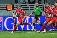 Essai Drew MITCHELL - 14.03.2015 - Lyon OU / Toulon -  20eme journee de Top 14<br /> Photo : Jean Paul Thomas  / Icon Sport<br /> <br />   *** Local Caption ***