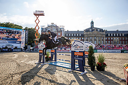 WEIER Christian (LUX), GLOBAL<br /> Münster - Turnier der Sieger 2019<br /> MARKTKAUF - CUP<br /> BEMER-Riders Tour - Qualifier for the rating competition (comp no 11)  - Stechen<br /> CSI4* - Int. Jumping competition with jump-off (1.50 m) - Large Tour<br /> 03. August 2019<br /> © www.sportfotos-lafrentz.de/Stefan Lafrentz