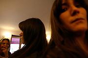 Thursday March 27th 2008.  .Paris, France..In a cafe.Rue des Acacias, 17th Arrondissement..