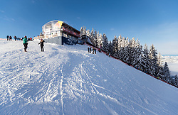 20.01.2018, Hahnenkamm, Kitzbühel, AUT, FIS Weltcup Ski Alpin, Kitzbuehel, Abfahrt, Herren, im Bild Starthaus // Starthouse before the men's downhill of FIS Ski Alpine World Cup at the Hahnenkamm in Kitzbühel, Austria on 2018/01/20. EXPA Pictures © 2018, PhotoCredit: EXPA/ Johann Groder