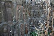 Sekibutsu, stone Buddhas, late Edo period