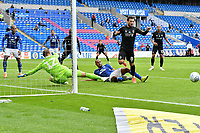 Football - 2019 / 2020 Championship - Cardiff City vs Charlton Athletic<br /> <br /> Alexander Smithies of Cardiff City saves an attempt at goal from Jake Forster-Caskey of Charlton, at the Cardiff City Stadium.<br /> <br /> COLORSPORT/WINSTON BYNORTH