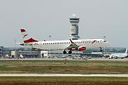 OE-LWG Austrian Airlines Embraer ERJ-195LR (Embraer 190-200) at Malpensa (MXP / LIMC), Milan, Italy
