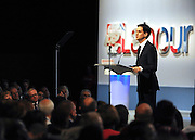 © Licensed to London News Pictures. 27/09/2011. LONDON, UK. David Miliband, Leader of the Labour Party delivers his Leader's Speech at The Labour Party Conference in Liverpool today (27/09/11). Photo credit:  Stephen Simpson/LNP