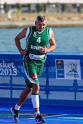 Darko Mirt during exhibition match between Croatia, Italy and Slovenia at Eurobasket 2013 promotion Basketball on sea raft on August 24, 2013, Koper, Slovenia. (Photo by Matic Klansek Velej / Sportida.com)