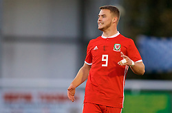 BANGOR, WALES - Saturday, November 17, 2018: Wales' Daniel Griffiths shows a look of dejection during the UEFA Under-19 Championship 2019 Qualifying Group 4 match between Sweden and Wales at the Nantporth Stadium. (Pic by Paul Greenwood/Propaganda)