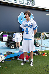 09 May 2009: North Carolina Tar Heels attackman Billy Bitter (4) during a 15-13 win over the University of Maryland - Baltimore County Retrievers on Fetzer Field in Chapel Hill, NC.