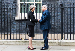 London, November 02 2017. British Prime Minister Theresa May welcomes Israeli Prime Minister Benjamin Nethanyahu to her official residence at 10 Downing Street for bilateral talks on the 100th anniversary of the Balfour Agreement.. © Paul Davey