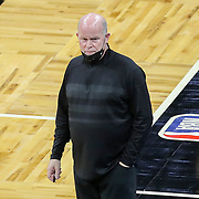 ORLANDO, FL - APRIL 12: Orlando Magic head coach Steve Clifford is seen on the sidelines against the San Antonio Spurs at Amway Center on April 12, 2021 in Orlando, Florida. NOTE TO USER: User expressly acknowledges and agrees that, by downloading and or using this photograph, User is consenting to the terms and conditions of the Getty Images License Agreement. (Photo by Alex Menendez/Getty Images)*** Local Caption *** Steve Clifford
