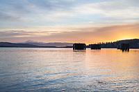 Sunrise over Guemes Channel Anacortes Washington