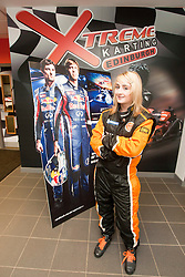 Red Bull Kart Fight promo at Xtreme Karting, Newbridge. Christie Doran's Ginetta Racing challenge..©Pic : Michael Schofield.