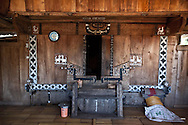 INDONESIA, Flores Archipelago, Ngada country, Tolela traditional village, traditional carving and paintings