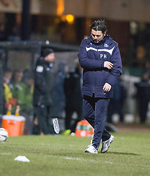 Dundee's manager Paul Hartley. <br /> Dundee 1 v 1 Ross County, SPFL Premiership game player 4/1/2015 at Dundee's home ground Dens Park.