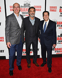 May 1, 2019 - JOHN CHUCK, CHUCK LORRE and PETER ROTH attends The Big Bang Theory's Series Finale Party at the The Langham Huntington. (Credit Image: © Billy Bennight/ZUMA Wire)