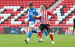 Sammie Szmodics of Peterborough United in action with Josh Scowen of Sunderland - Mandatory by-line: Joe Dent/JMP - 26/09/2020 - FOOTBALL - Stadium of Light - Sunderland, England - Sunderland v Peterborough United - Sky Bet League One