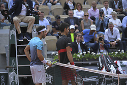 June 5, 2018 - Paris, France - quart de finale Marco Cecchinato vs Novak Djokovic (Credit Image: © Panoramic via ZUMA Press)