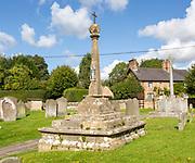 Medieval preaching cross, Great Bedwyn churchyard, Wiltshire, England, UK