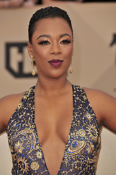 Samira Wiley arrives at the 24th annual Screen Actors Guild Awards at The Shrine Exposition Center on January 21, 2018 in Los Angeles, California. <br /><br />(Photo by Sthanlee Mirador/Sipa USA)