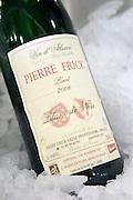 pinot noir blanc de noir 2006 in ice bucket domaine pierre frick pfaffenheim alsace france