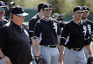 GLENDALE, AZ - FEBRUARY 24:  Carlos Rodon #80 of the Chicago White Sox looks on during spring training workouts on February 24, 2015 at The Ballpark at Camelback Ranch in Glendale, Arizona. (Photo by Ron Vesely)   Subject:   Carlos Rodon
