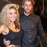 NLD/Amsterdam/20151110 - Life After Football Award 2015, Fajah Lourens en partner Gijs Scheeringa