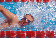 June 27, 2000, Colorado Springs, Colorado, USA;  A swimmer training for the 2000 Olympic Games in Sydney, Australia at the U.S. Olympic Training Center.
