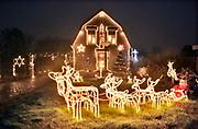 Nederland, Millingen, 2-12-2019Kerstverlichting en figuurtjes in en buiten het huis van Geertje en Arno. KerstsfeerFoto: Flip Franssen