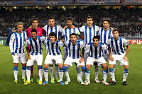 Football - UEFA Champions League 2013/2014 - Group Stage - Group A - Real Sociedad v Shakhtar Donetsk on September 17, 2013 in San Sebastian , Spain - Photo Manuel Blondeau / AOP PRESS / DPPI - Players of Real Sociedad  pose for photographers prior to the match