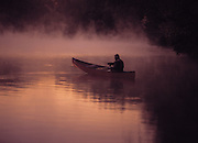 A man woke up early to hit the lake at sunrise and go fishing