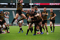Rugby Union - 2019 Bill Beaumont County Championship Division One Final - Cheshire vs. Cornwall<br /> <br /> Seti Raumakita of Cornwall celebrates his try to level the scoring in overtime, at Twickenham.<br /> <br /> COLORSPORT/ANDREW COWIE