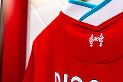 A '96' printed on the shirt of Diogo Jota of Liverpool in support of Liverpool fans that lost their lives at the Hillsborough disaster - Mandatory by-line: Ryan Crockett/JMP - 02/10/2020 - FOOTBALL - Anfield - Liverpool, England - Anfield General Views - GV's