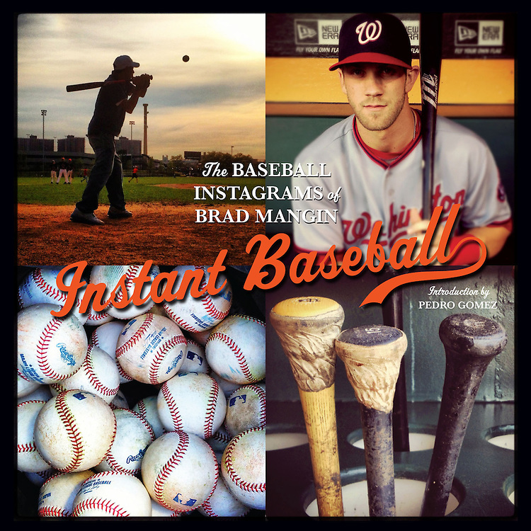 Instant Baseball (signed by Brad Mangin)<br /> <br /> $40 plus shipping<br /> <br /> Brad Mangin, who has been photographing baseball for Sports Illustrated and Major League Baseball for over 20 years, has captured the 2012 MLB season from Spring Training beginning in February all the way through the World Series in October - all through the lens of Instagram on his iPhone.<br /> <br /> Whether it's Major League All Stars like Bryce Harper, Buster Posey, Jason Heyward, Joe Mauer, Josh Hamilton, Hanley Ramirez, and Tim Lincecum in the dugout, or the incredible scenery of baseball's finest ballparks like Yankee Stadium, Citi Field, and AT&T Park, or the art of baseball seen by many but recognized as photo-worthy by few like hot dogs on a grill, the freshly rubbed-in baseball, bullpen phones and baseball bats - Mangin utilizes the incredibly beloved yet accessible photo technology of Instagram to document all of these subjects in INSTANT BASEBALL.