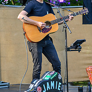 Jamies Freeman performs at the Food Village at Kew the Music 2019 on 14 July 2019, London, UK.