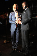 October 16, 2012-New York, NY : (L-R) Rev. Al Sharpton, Founder & President, National Action Network and Music Executive/Recording Artist/Actor Sean Combs aka P. Diddy at the 3rd Annual National Action Network Triumph Awards held at Jazz at Lincoln Center on October 16, 2012 in New York City. The Triumph Awards were established by the National Action Network to recognize the contributions of humanitarians from all walks of life and to encourage future generations to drum majors for justice. (Terrence Jennings)