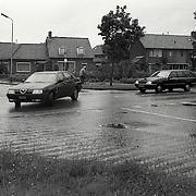 NLD/Huizen/19910619 - Kruising Abraham Kuyperlaan - Centuurbaan Huizen