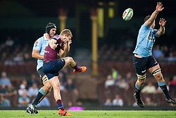 March 9, 2019 - Sydney, NSW, U.S. - SYDNEY, NSW - MARCH 09: Reds player Bryce Hegarty (10) kicks the ball at round 4 of Super Rugby between NSW Waratahs and Queensland Reds on March 09, 2019 at The Sydney Cricket Ground, NSW. (Photo by Speed Media/Icon Sportswire) (Credit Image: © Speed Media/Icon SMI via ZUMA Press)