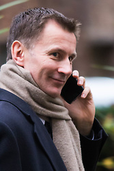 Downing Street, London, November 24th 2015. Health Secretary Jeremy Hunt leaves Downing Street following the weekly cabinet meeting. ///FOR LICENCING CONTACT: paul@pauldaveycreative.co.uk TEL:+44 (0) 7966 016 296 or +44 (0) 20 8969 6875. ©2015 Paul R Davey. All rights reserved.