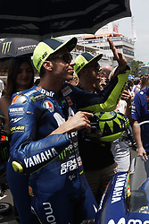 June 17, 2018 - Barcelona, Catalonia, Spain - Valentino Rossi (46) of Italy and  Movistar Yamaha MotoGP during the race day of the Gran Premi Monster Energy de Catalunya, Circuit of Catalunya, Montmelo, Spain. 17th June of 2018. (Credit Image: © Jose Breton/NurPhoto via ZUMA Press)