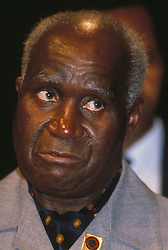 KENNETH KAUNDA, President of Zambia, at the Commonwealth Heads of Government Meeting in Kuala Lumpur. (Credit Image: © Piers Cavendish/ZUMAPRESS.com)