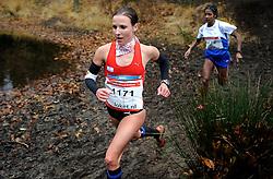 27-11-2011 ATLETIEK: NK CROSS 53e WARANDELOOP: TILBURG<br /> Sabrina Mockenhaupt GER wins the bronze medal <br /> ©2011-FotoHoogendoorn.nl