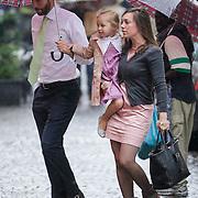 ITA/Parma/20120929- Doop prinses Luisa Irene, Tjalling ten Cate en kindermeisje Margarita