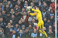 Rotherham United goalkeeper Marek Rodak (1), on loan from Fulham, saves another shot on goal during the The FA Cup 3rd round match between Manchester City and Rotherham United at the Etihad Stadium, Manchester, England on 6 January 2019.