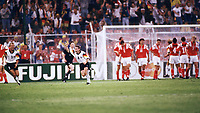 Fotball<br /> EM 1992<br /> Foto: Witters/Digitalsport<br /> NORWAY ONLY<br /> <br /> Jubel nach dem Augleichstreffer zum 1:1 durch Thomas HÄSSLER<br /> Tyskland v GUS 1-1