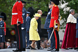 © Licensed to London News Pictures. 10/06/2016. London, UK. Members of the British Royal Family arrive for a service of thanksgiving to mark the 90th birthday of Queen Elizabeth II, held at St Paul's Cathedral in London. Photo credit: Ben Cawthra/LNP