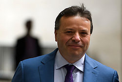 © Licensed to London News Pictures. 10/07/2016. London, UK. UKIP donor ARRON BANKS arrives at the BBC Broadcasting House in London to appear on the Andrew Marr Show on July 10, 2016.  Photo credit: Ben Cawthra/LNP