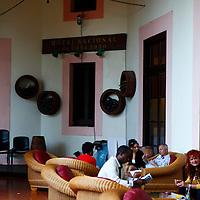 Central America, Cuba, Havana. Galeria Bar at Hotel Nacional de Cuba, in Havana.