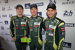 June 11, 2018 - Le Mans, FRANCE - 97 ASTON MARTIN RACING (GBR) ASTON MARTIN VANTAGE AMR ALEX LYNN (GBR) MAXIME MARTIN (BEL) JONATHAN ADAM  (Credit Image: © Panoramic via ZUMA Press)