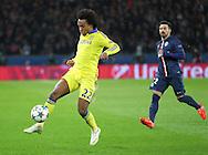 Chelsea's Willian during the Champions League match between Paris Saint-Germain and Chelsea at Parc des Princes, Paris, France on 17 February 2015. Photo by Phil Duncan.